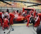 Ferrari pit stop praktyki, Szanghaj 2010