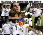 3-cia Valencia CF. Liga BBVA niejawne 2009-2010