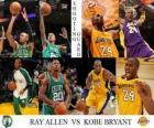 Finały NBA 2009-10, Rzucający obrońca, Ray Allen (Celtics) vs Kobe Bryant (Lakers)