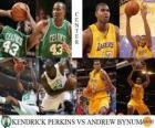 Finały NBA 2009-10, Środkowy, Kendrick Perkins (Celtics), Andrew Bynum vs (Lakers)
