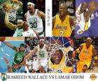 Finały NBA 2009-10, Ława, Rasheed Wallace (Celtics) vs Lamar Odom (Lakers)