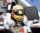 Lewis Hamilton świętuje swoje zwycięstwo w Montrealu, Kanada 2010 Grand Prix