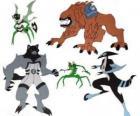 Grupa pięciu cudzoziemców z Omnitrix Ben 10