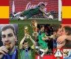 Najlepszy bramkarz Iker Casillas (Gold Glove) z Football World Cup 2010 South Africa