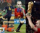Andres Iniesta, najlepszy zawodnik w finale mistrzostw świata w RPA Cup 2010