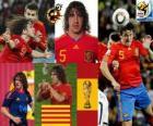 Carles Puyol (szef Hiszpania) Hiszpański zespół obrony
