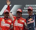 Fernando Alonso, Felipe Massa, Sebastian Vettel, Hockenheim, Grand Prix Niemiec (2010) (1., 2. i 3. Ogłoszenia)