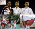 Marcin Lewadowski 800 m mistrz, Michael Rimmer i Adam Kszczot (2 i 3) z Barcelona Mistrzostwa Europy w Lekkoatletyce 2010