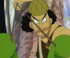 Usopp, strzelec z piratem załogi i broni ekspertów