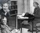 Agatha Christie (1890 - 1976), brytyjski pisarz powieści detektywistycznej.