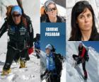 Edurne Pasaban, hiszpański alpinista i pierwszą kobietą w historii, który wstąpi do 14 osiem tysięcy (góry ponad 8000 m) od planety.