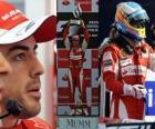 Fernando Alonso świętuje swoje zwycięstwo na torze Monza, Grand Prix Włoch (2010)
