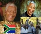 Nelson Mandela w swoim kraju znany jako Madiba, pierwszy demokratycznie wybrany prezydent RPA w wyborach powszechnych.