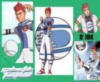 D'jok jest gwiazdą z Snow Kids, ma numer 9