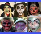 makijaż dla dzieci na Halloween