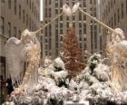 Anioły w Rockefeller Center