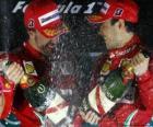 Fernando Alonso, Felipe Massa, Grand Prix Korei (2010) (1 i 2 miejsce)