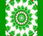 Mandala z ozdoby choinkowe