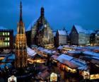 Rynek Christkindl Norymberga Niemcy Bawaria