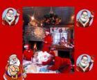 Santa Claus czytanie listów od dzieci, które otrzymał na Boże Narodzenie