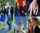 Zaangażowanie Prince William Anglii do Catherine Middleton
