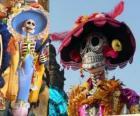 Czaszka Catrina, jeden z najbardziej popularnych Święto Zmarłych w Meksyku