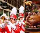 Święto Dziękczynienia z tradycyjnym indykiem i pielgrzymów typowy kapelusz. U. S. Held czwarty czwartek listopada
