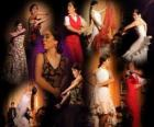 tancerka flamenco. Flamenco ma swoje korzenie w folklorze Cyganie i kultury popularnej w Andaluzji, Hiszpania