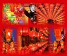 Święto Latarni jest koniec obchody Chińskiego Nowego Roku. Piękne latarnie papieru