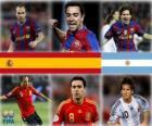 Nominowany do Złota Piłka 2010 FIFA (Andrés Iniesta, Xavi Hernández, Lionel Messi)