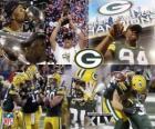 Green Bay Packers świętować zwycięstwo Super Bowl 2011
