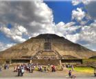 Piramida Słońca, największy budynek w archeologicznym miasta Teotihuacan, Meksyk
