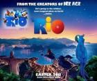 plakat Rio, z pięknym widokiem na miasto Rio de Janeiro