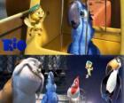 Blu wraz z innymi postaciami w filmie Rio
