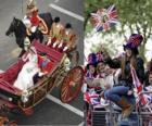 British Royal Wedding między Książę William i Kate Middleton, chodzenie w przewozie obywateli acalamados