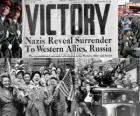 Upamiętnienie zwycięstwo aliantów nad nazizmem i koniec II wojny światowej. Dzień Zwycięstwa, 08 maja 1945