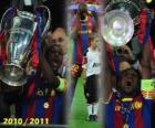 Eric Abidal spotkanie jako kapitan Cup, Champions League 2010-2011