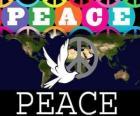 Międzynarodowy Dzień Pokoju. Dzień pokoju na świecie. 21 września jest dedykowany do pokoju i braku wojny