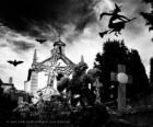 Cmentarz w dniu Halloween