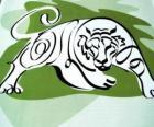 Tygrys, znak tygrysa, Rok Tygrysa. Trzeci znak dwunastu zwierząt chińskiego zodiaku