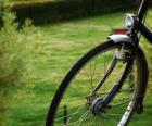 Przednie koło z jazdy rowerem