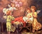 Kilka aniołów z Dzieciątkiem Jezus