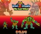 Cyclops, najnowszej ewolucji. Invizimals Zaginione Plemiona. Olbrzym z jednym okiem jest grzeczny, ale również może być brutalny