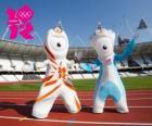 Maskotki Igrzyska Olimpijskie i Igrzyska Paraolimpijskie 2012 London są Wenlock i Mandeville