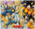 Gotenks, jeden z najbardziej zaawansowanych znaków utworzone przez syntezy jądrowej między syn Goten i Trunks