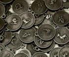 Medale z objawami Zodiak chiński