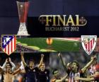 Atlético Madryt vs Athletic Bilbao. Europa League 2011-2012 końcowy na Stadionie Narodowym w Bukareszcie, w Rumunii