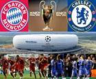 Bayern Monachium kontra Chelsea FC. Finał UEFA Champions League 2011-2012. Allianz Arena, Monachium, Niemcy