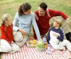 Piknik na wsi do korzystania z przyrody i żywności