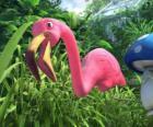 Faflamingo, samotny flamingo
